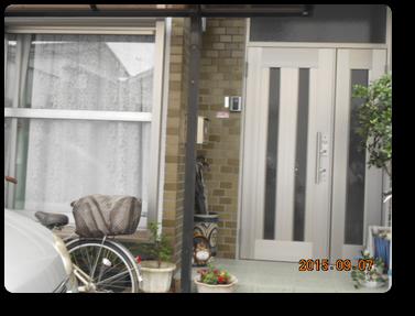 工事後の玄関